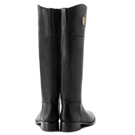 Tory Burch Junction Riding Brown Junction Purse Ridiing Riding Black Boots Image 1