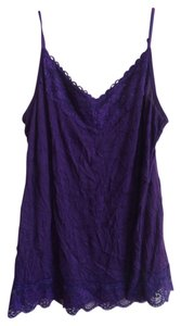 George Top dark purple with lace around top and bottom