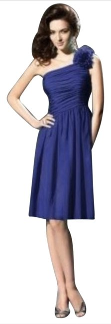 Dessy Length One Shoulder Chiffon Dress