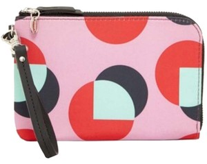 Fossil Leather Wristlet in Fuchsia