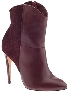 Madison Harding Leather Calf Hair Oxblood Boots