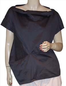 Marni Architectural Asymmetrical Top Dark Gray
