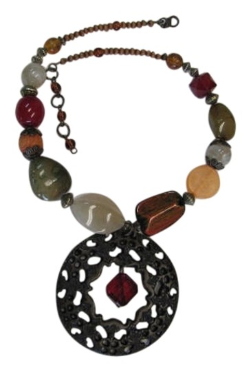Preload https://item1.tradesy.com/images/brown-red-green-coral-beads-pendant-942895-0-0.jpg?width=440&height=440