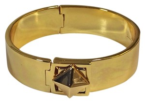 Kate Spade MOdern Smart Update of Gold! Kate Spade Locked In Hinged Bracelet NWT