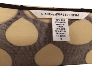 Diane von Furstenberg short dress beige, dark brown on Tradesy