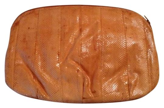 Other Snakeskin Vintage Peach Clutch