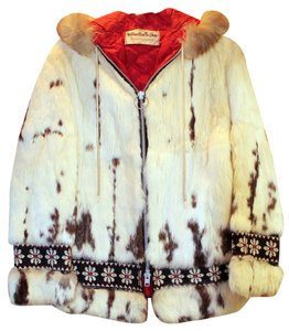 Northwest Fur Shop Fox Hooded Embroidered Fur Coat