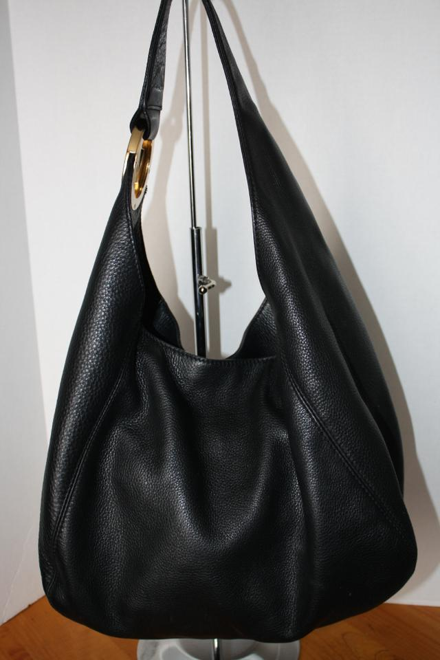 michael kors fulton hobo shoulder bag black michael kors hobos tradesy. Black Bedroom Furniture Sets. Home Design Ideas