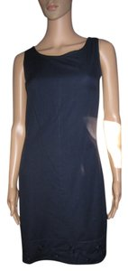 CDC short dress Navy Blue Summery Linen Look on Tradesy