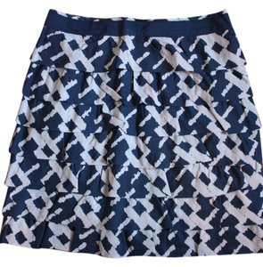 French Connection Silk Size 4 Mini Skirt Blue