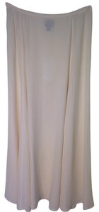 Eileen Fisher Silk Georgette Crepe Skirt Soft white/Cream