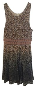 Free People short dress Brown Crochet Fit And Flare Leopard on Tradesy