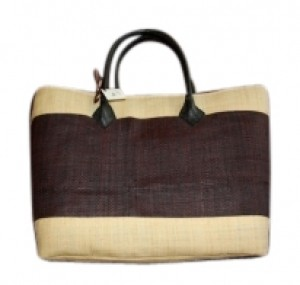 Other Tote in tan with brown stripe