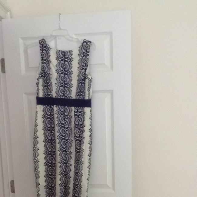 Anthropologie short dress Blue And Cream on Tradesy