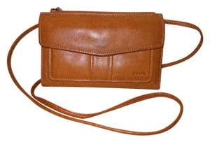 Fossil Vintage Leather Wallet Cross Body Bag