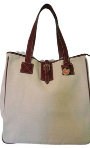 Dooney & Bourke Leather Trim New Tote in Cream