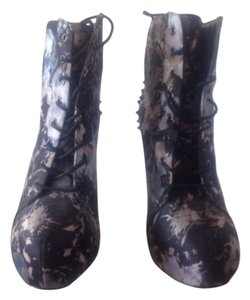 Call It Spring Black/floral Boots