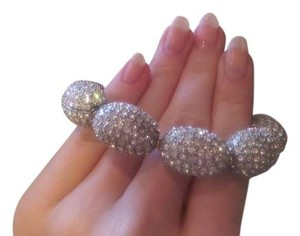 Neiman Marcus Neiman Marcus Silver Sparkle Pave Egg Holiday Bracelet