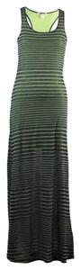 Green with Navy Stripes Maxi Dress by Threads 4 Thought Organic Cotton Racer-back Light-weight For