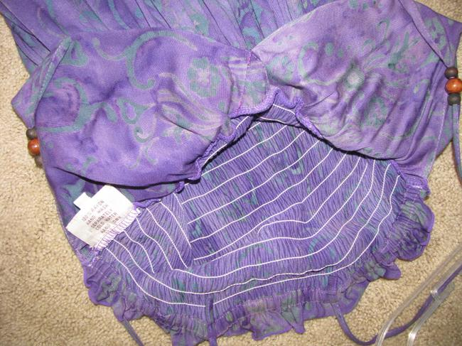 Santiki short dress Purple/Teal on Tradesy