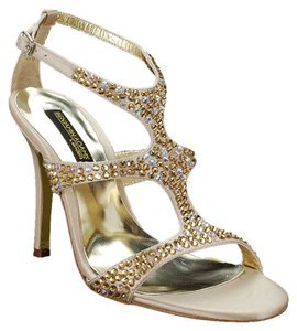 Benjamin Adams Crystal Gold & Champagne Sandals