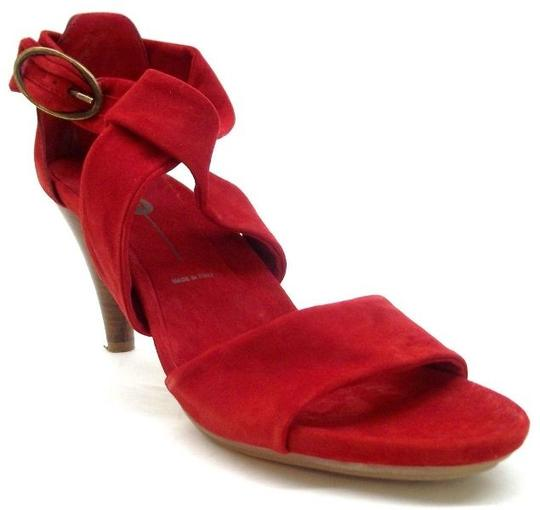 Yin Suede Chic Red Sandals