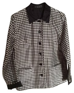 Harris Wallace New York Black and white reversible Blazer