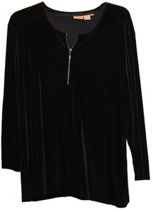 Newport News Rhinestones Zipper Top Black
