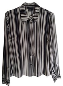 Spenser Jeremy Button Down Shirt Black and white