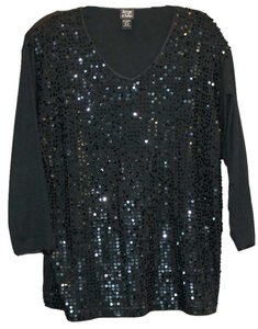 Jacque & Koko Sequin Top black