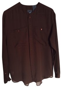 Liz Claiborne Button Down Shirt Brown