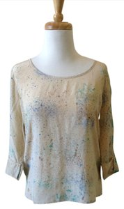 Maison Scotch Top cream patterned
