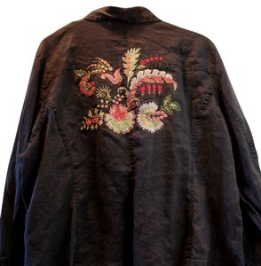 New York City designco Embroidered Top Black