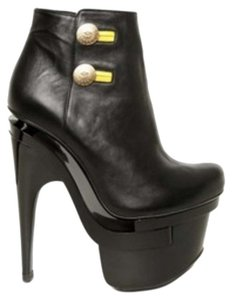 Versace Button Up Lady Gaga Black with gold buttons Boots