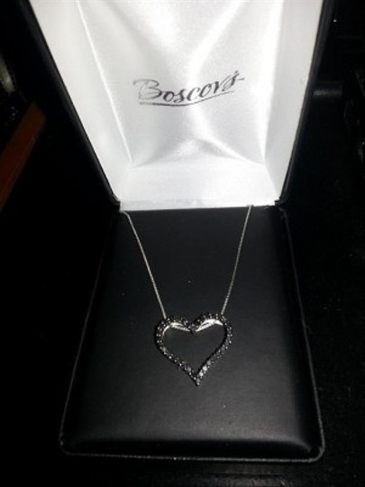 Boscov's Black Diamond Heart Necklace