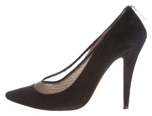 Chlo Chloe Mesh Stilleto Trendy Suede Black/Gold Pumps