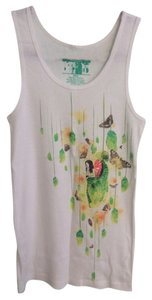 Threadless Top white, green