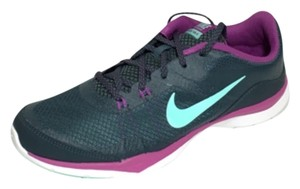 Nike Flex Grey Workout Gym Running Charcoal Blue/Purple Athletic