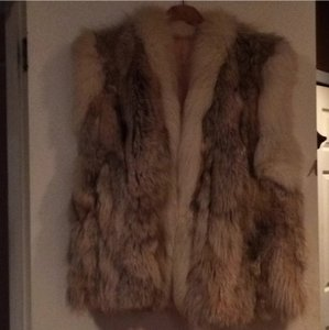 Real Cayote Custom Made Fur Vest SZ XL/1X Fabulous Deal! Vest