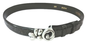 VICENZA VICENZA BLACK GENUINE ITALIAN CALFSKIN LEATHER BELT 28
