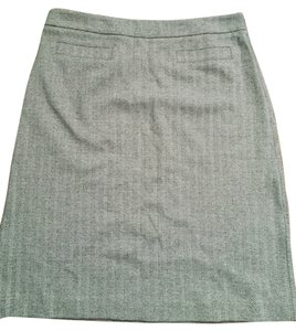 Talbots Work Fall Herringbone Skirt Black and White/Grey