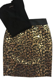 The Limited Skirt Metallic Gold and Black