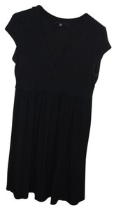 Banana Republic short dress black Deep V Neck V-neck on Tradesy