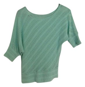 TeenBell Dolman Knit Turquoise Top Aqua Blue