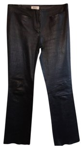Vakko leather Flare Pants