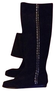 Michael Kors Suede Chain Boots