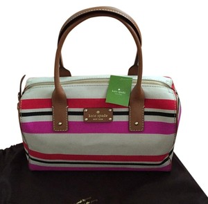 Kate Spade Satchel in Beige, Red, Fuschia And Black