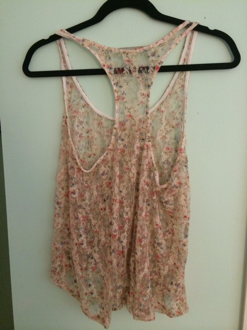 Crystal K Top cream lace, pink, blue, floral