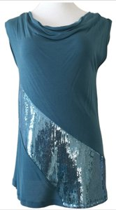 Kische Sequin Top Blue