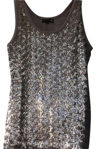 Cotton On Sequin Tank Party Dancing Top Silver